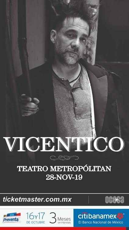 Vicentico volverá a presentarse en el Teatro Metropólitan