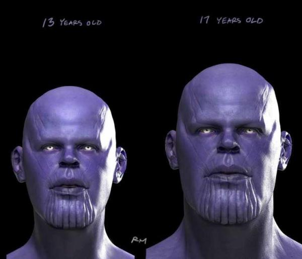 thanos adolescencia marvel mcu endgame infinity war