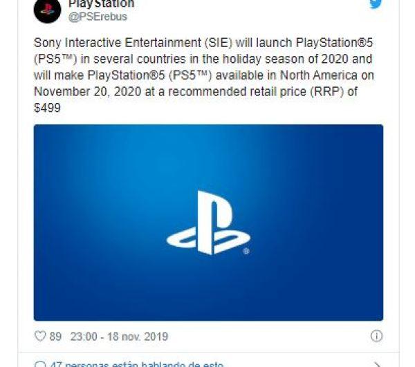 playstation 5 nueva consola precio fecha de lanzamiento