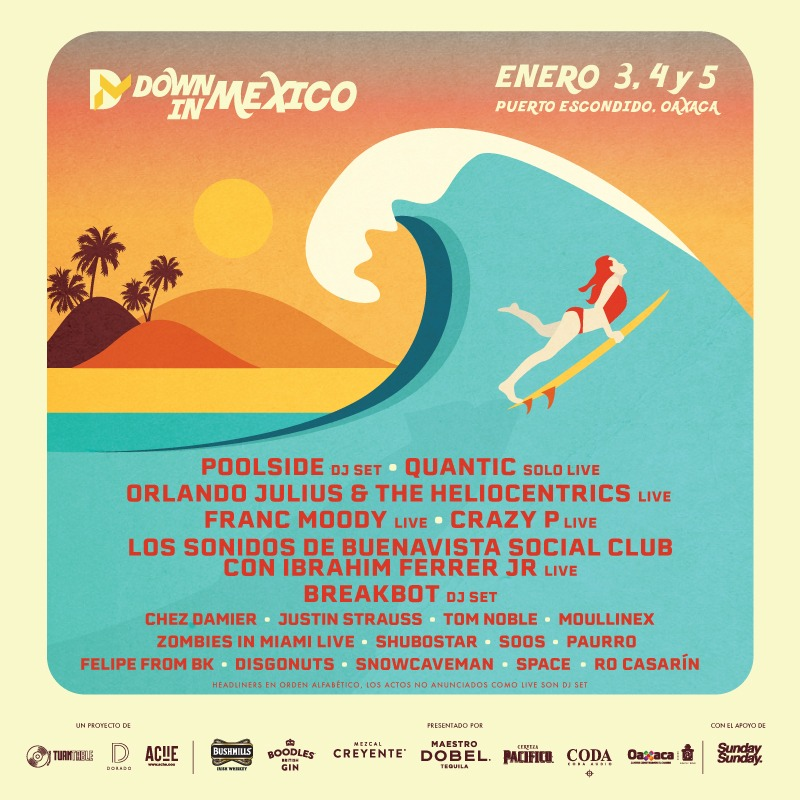 Chez Damier y Los Sonidos de Buena Vista Social Club se unen a la edición 2020 de Down In Mexico