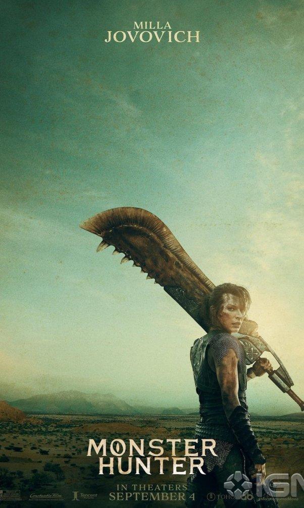 monster hunter nueva pelicula live action posters milla jovovich