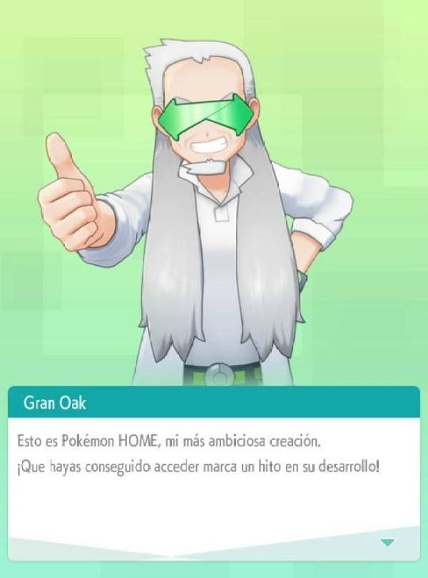 pokemon home professor oak apariencia