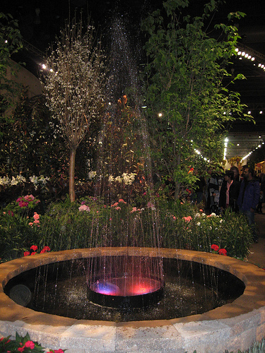 flower show waterfall