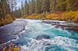 Metolius River at fish hatchery road crossing near Camp Sherman, Oregon