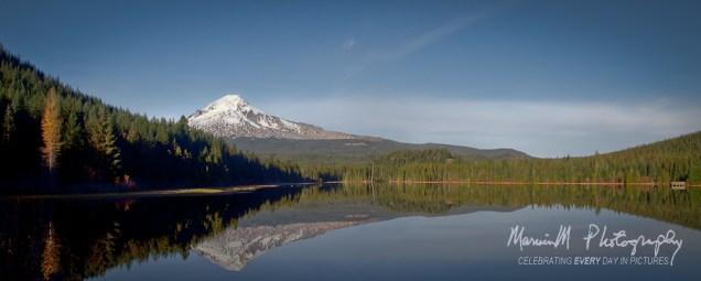 Trillium Lake; 3 photo panorama