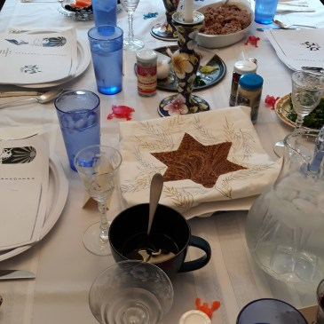 "The biggest Jewish ceremony at home is the ""Passover"" Seder."