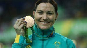 Bronze Medallist, women's Kerrin event, Anna Meares.