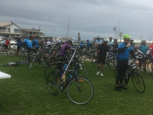 Bike parking at Mordialloc
