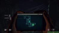 O cadeado aponta a saída mas só vai aparecer quando o jogador chegar perto da porta