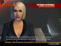 Tatiana é a âncora que narra boletins informativos a favor da União Soviética.