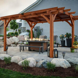 Sonoma 12 Foot Square Wood Pergola Kit Marx Fireplaces