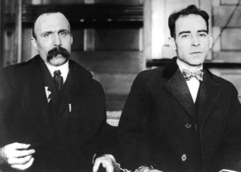 Sacco and Vanzetti after they have been arrested, 20th century, United States, Washington. National archives, . (Photo by: Photo12/UIG via Getty Images)