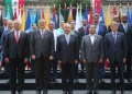 Mexico President Andres Manuel Lopez Obrador(C) poses for a photo with leaders and prime ministers during the summit of the Community of Latin American and Caribbean States (CELAC), at the National Palace in Mexico City, Mexico September 18, 2021. Mexico's Presidency/Handout via REUTERS ATTENTION EDITORS - THIS IMAGE HAS BEEN SUPPLIED BY A THIRD PARTY. NO RESALES. NO ARCHIVES