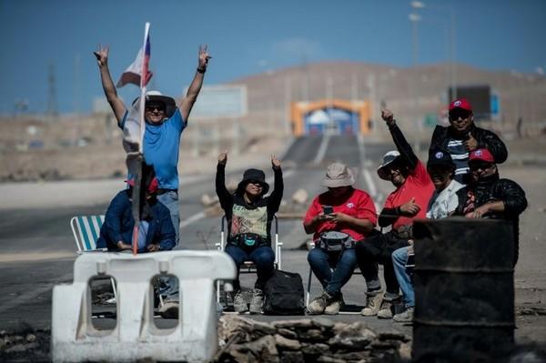 Χιλή απεργία ορυχείο χαλκού
