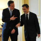 David Cameron y Nicolas Sarkozy. Foto de Andrew Parsons.