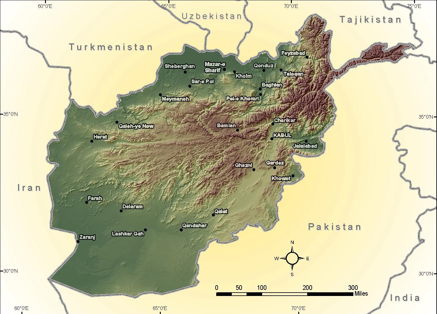 afghanistanreliefmap