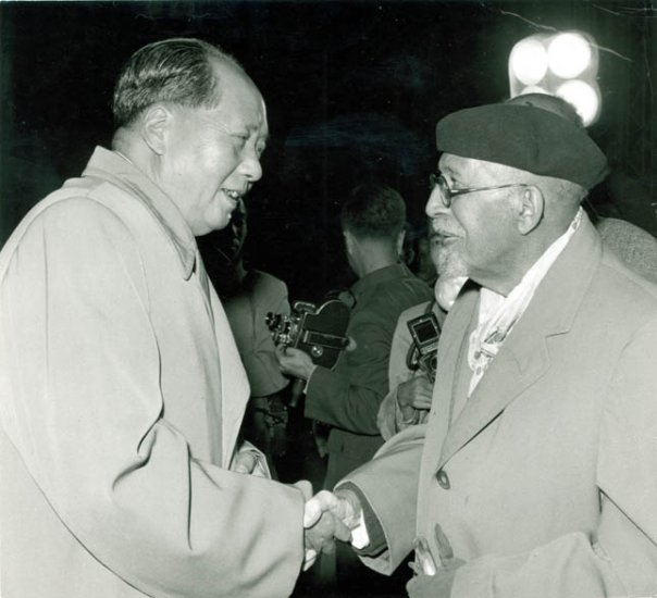 Mao Zedong with African American liberation leader W.E.B. Du Bois