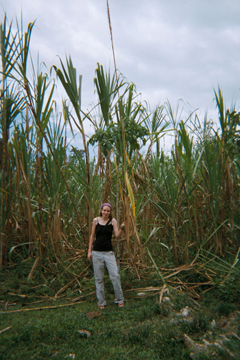 Angela Denio in the Colombian countryside