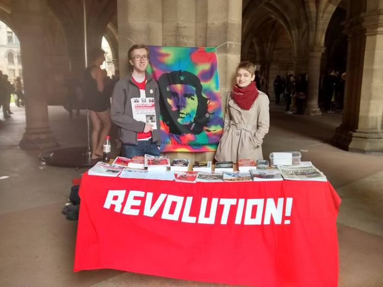 Glasgow Marxists at the freshers fair