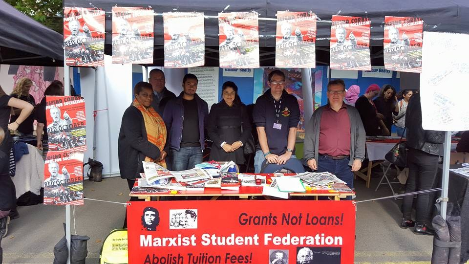 De Montfort Marxists at the freshers fair