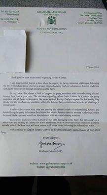 morris letter