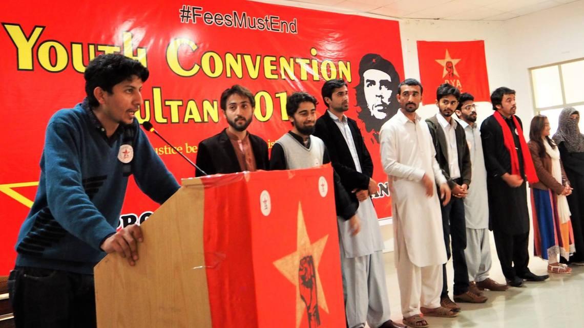 Students fighting for socialist revolution in Multan, Pakistan