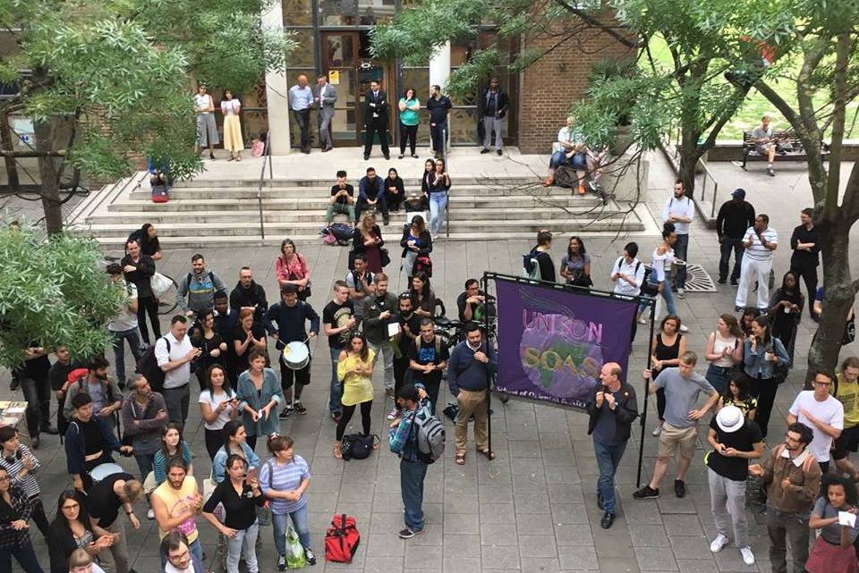 Justice for workers – shame on SOAS – la lucha continua!