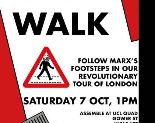 This Saturday – Marx walk around London!