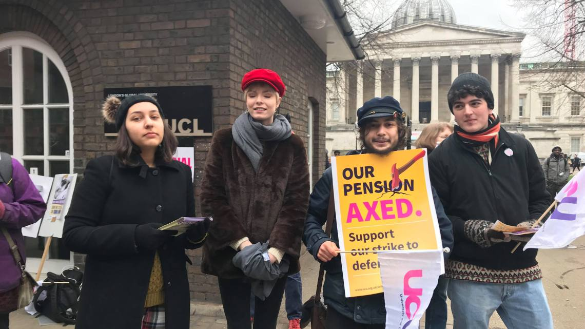 'Strike till we win' – views from the UCL picket line