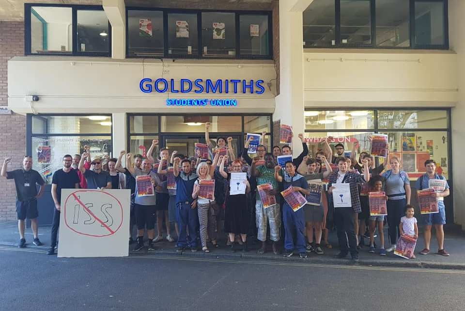 Goldsmiths Marxists join cleaners in demanding justice