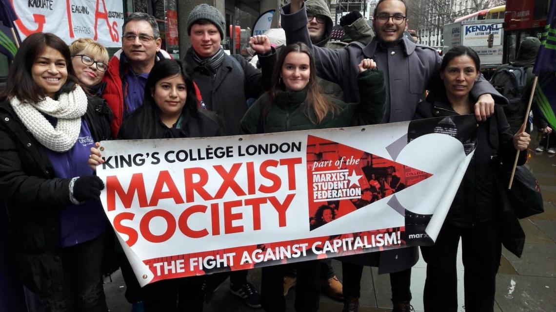 Anti-casualisation rally at Kings, support the UCU strike!