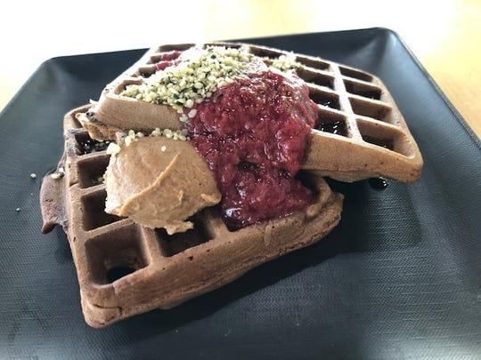 Vegan waffles at GreenSpace & Go. (Photo: GreenSpace & Go)