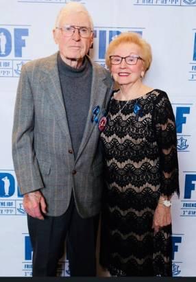 Sophie Klisman with Doug Harvey, one of Salzwedel's liberators, in 2019.