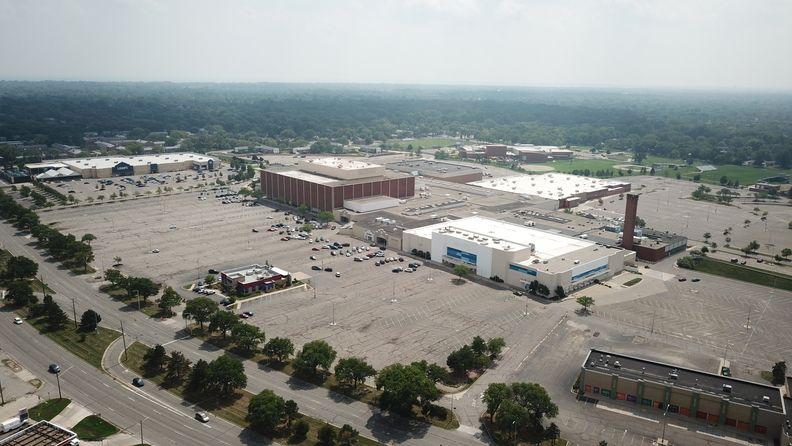 aerial image Eastland Center