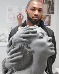 Detroit-based sculptor Austen Brantley will be one of the more than 600 artists at this year's Ann Arbor Art Fair.