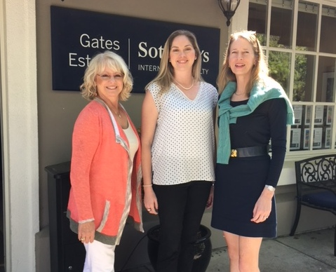 Mary Stuart Freydberg with Sotheby's Agents in CA