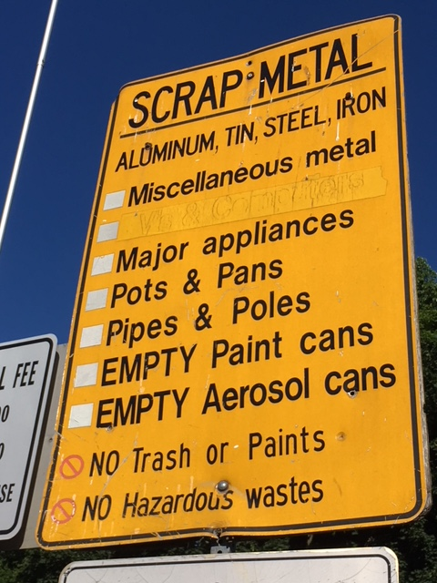 Holly Hill Scrap Metal Sign