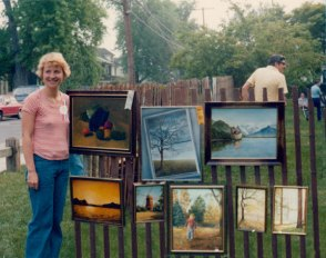 1976 Mary Ahern at the Floral Park Art League