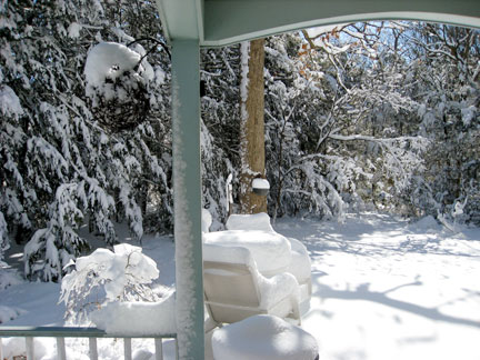 View from my deck after the beautiful snow storm