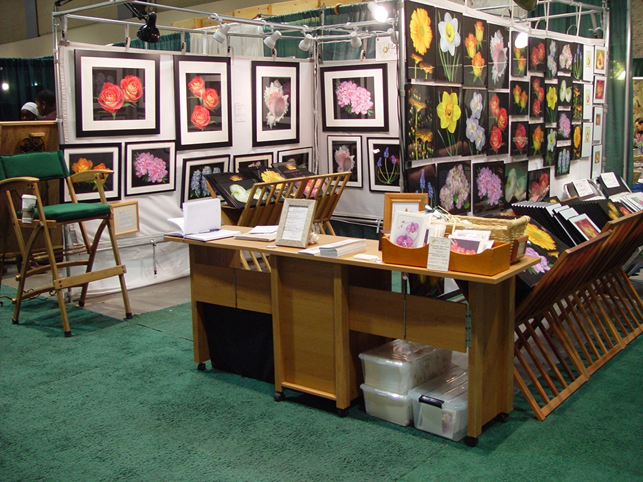Mary Ahern Art Booth at the Connecticut Flower & Garden Show
