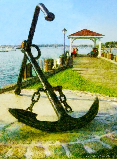 Northport Anchor by the Artist, Mary Ahern