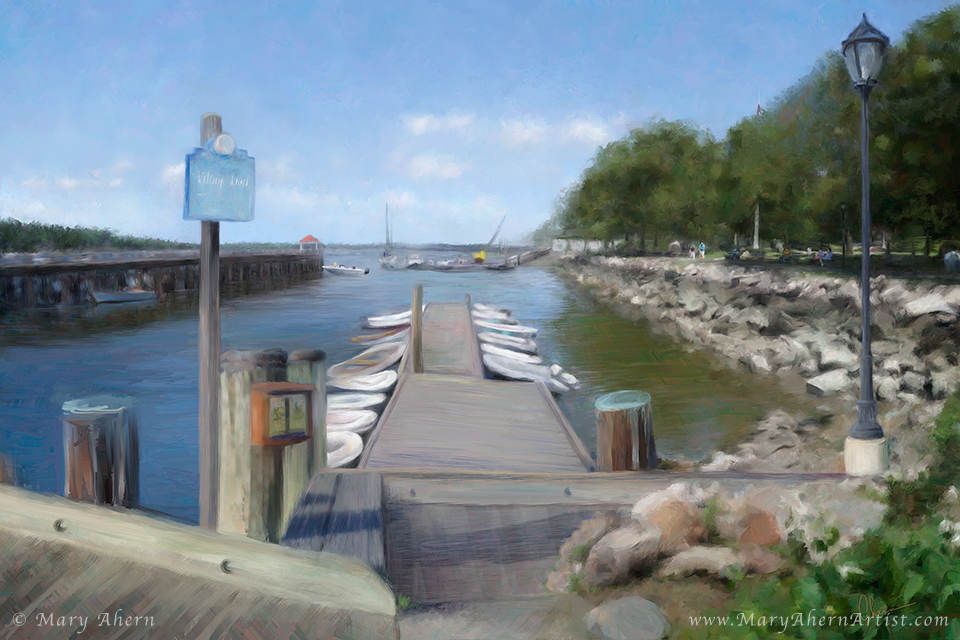 Northport Harbor by the Artist, Mary Ahern