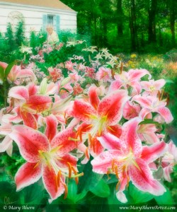 Mary's Dream Garden - Painting by Mary Ahern Artist.