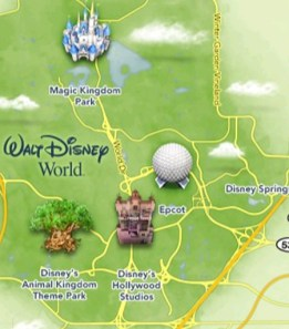 Mapa Disney App