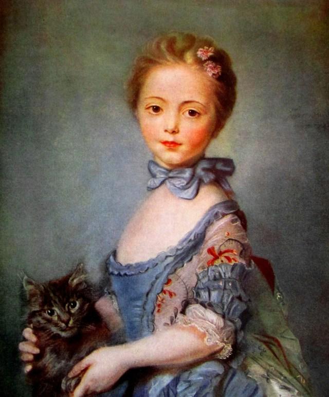 Jean-Baptiste Perronneau - girl with a cat