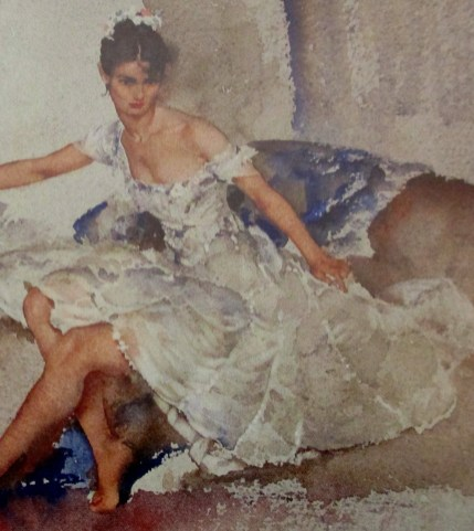 William Russell Flint   The Silver Frock