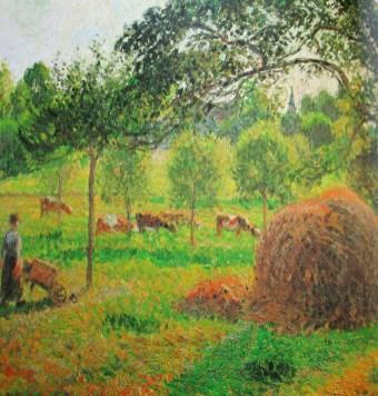 Camille Pissarro - Sunset at Eragny
