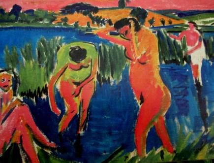 Ernst Ludwig Kirchner - 4 bathers