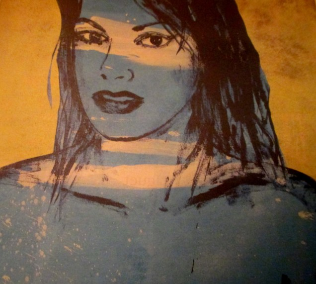 David Bromley - untitled blue nude, Australian artists, is it art?