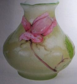 Emile Galle - vase rose de France